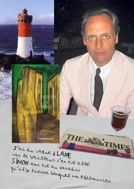 hommage a Simon Lane par Claude Jeanmart